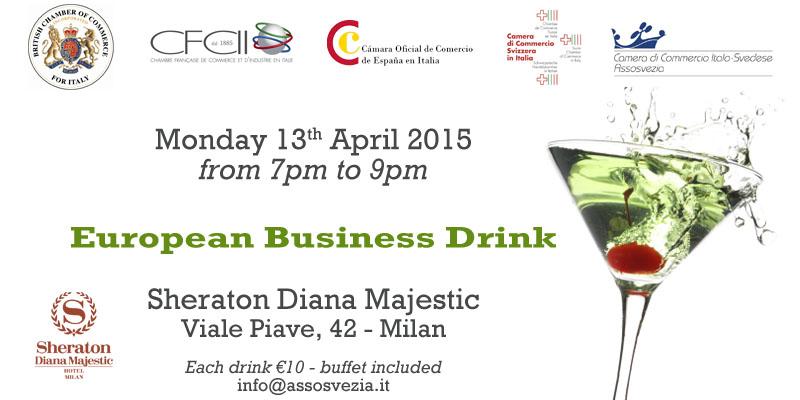 European business drink assosvezia for Chambre de commerce francaise en italie