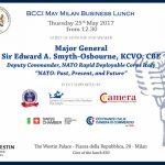 bcci british chamber of commerce business lunch Major General Sir Edward A. Smyth-Osbourne 25 maggio 2017