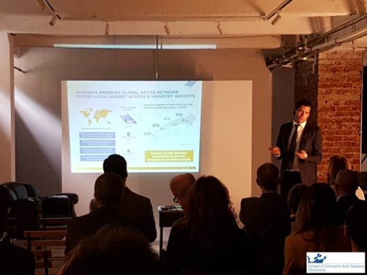camera commercio italo svedese assosvezia seminario workshop digital transformation vondr business sweden joakim jansson camfil crowe horwath 9 aprile 2018