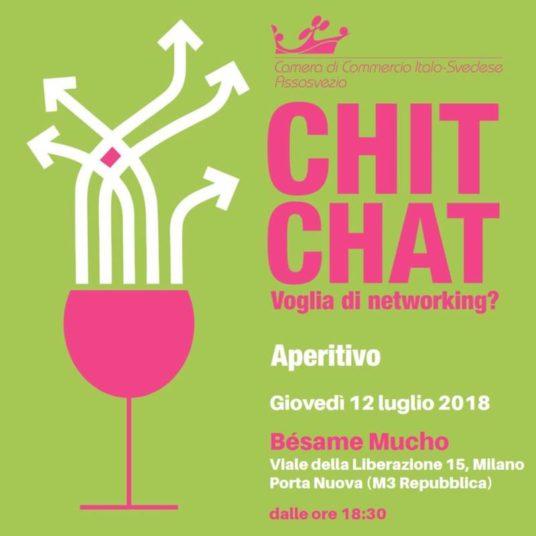 chit chat voglia di networking camera di commercio italo-svedese assosvezia 12 luglio 2018 aperitivo milano besame mucho