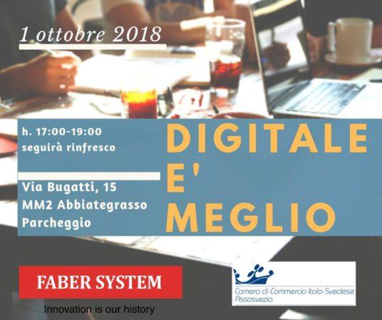 assosvezia camera commercio italo svedese seminario workshop 1 ottobre 2018 fatturazione elettronica b2b faber system